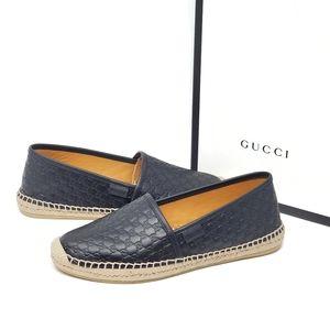 Gucci Guccissima Black Espadrille Size 6.5 New